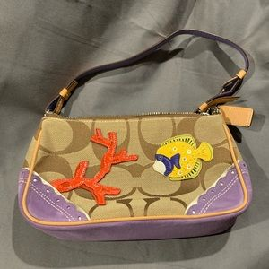 Coach coral fish appliqué purse NEW mini bag